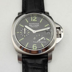 Parnis Marina Military Power Reserve Mechanical Automatic mens Watch - Never Worn - 2017