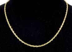 18 kt gold necklace chain - Length 45 cm - Weight 3.2 g - Width 2.7 mm