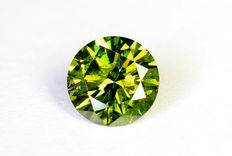 Green diamond - 0.17 ct - without reserve price