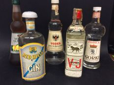 Red Hills London Dry Gin - V&J London Dry Gin - Gorki Vodka - Keglevich Vodka & Lemon Vodka