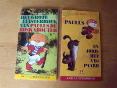 Jean Dulieu; Lot with 2 audio books of Paulus de Boskabouter - 2000 / 2001