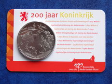"The Netherlands – Medal 2013 ""200 years Kingdom"" – Landing on Scheveningen"" in coin card"