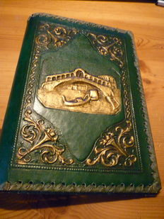 Six leather book covers