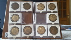 Netherlands, various coins 'Het Wilhelmus' (15 different coins) + coin Principality Oranje