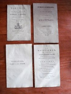 Napoleon; Lot with 4 pamphlets concerning the causes/endings of French rule - 1813/1814