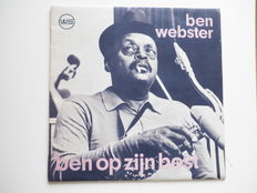 Jazz; lot with 10 LP`s ; Ben Webster, 1. Ben op zijn best- recorded `70 in Sound Push Laren. 2. Ben Webster at ease - recorded ` 69 by Bovema - Peterson,Pass, Brown; the Giants - recorded `74 - Oscar Peterson, Milt Jackson; Very Tall - recorded `61 - Benn