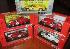 """Best Box Model - Scala 1/43 - Lot with 5 models: 5 x Ferrari 250 Le Mans Competition - two are """"specials-Code 3"""""""