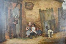 William Fitz (active 1880 - 1915) - Story time - 1891