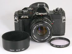 Canon AV-1 with Canon FD 1.8/50 mm