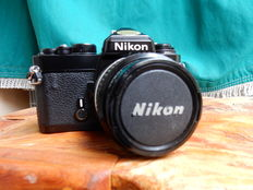 NIKON FE analog camera with 35mm original Nikon lens