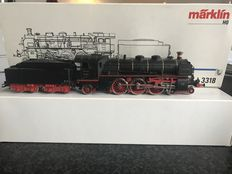 Märklin H0 - 3318 - Steam loc with tender BR 18.4 of DRG