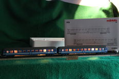 "Märklin H0 - 42892 - ""Tegernsee"" - Bahn passenger carriages, with lights"
