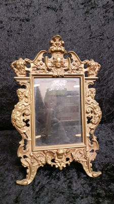 Large, heavy, baroque photo frame - France - 1950s