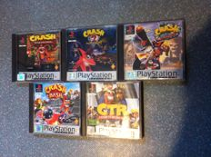 Crash bandicoot collection x5 games with books for Playstation 1 /Ps1