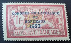 France 1923 – Philatelic Congress of Bordeaux, signed Calves with digital certificate – Yvert No. 182