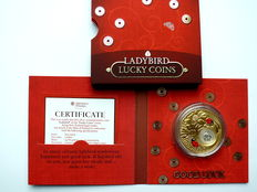 Niue - 2 dollars 2013 'Good Luck - Lady Bug' - gold-plated silver