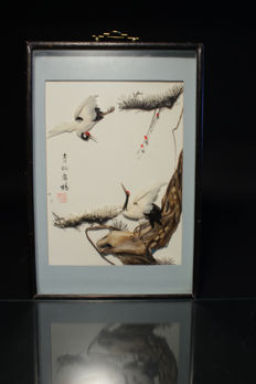 Paintings made of feathers - China - 2nd Part of the 20th century