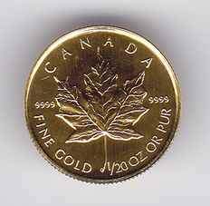 Canada – 1 Dollar 1994 'Maple leaf' 1/20 oz gold