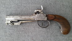 Belgium - Chest percussion pistol and bayonet time 1830-1840