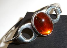 Bangle with amber from Nils Erik from Denmark - N.E.FROM signed