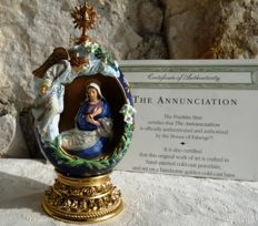 "House of Fabergé - ""The Annunciation"" - Collector's egg  - numbered - signed - certificate of authenticity"