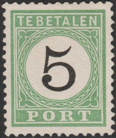 Curaçao 1889 – Port Number in black – NVPH P2 type II