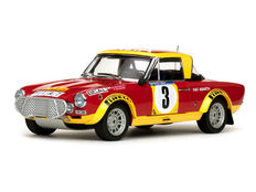 Sun Star - Schaal 1/18 - Fiat 124 Abarth Rallye #3 - Drivers: S. Barbasio / P. Sodano - East African Safari Rally 1974