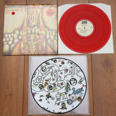 Led Zeppelin- Lot of 2 classic lp's, both limited edition releases: Led Zeppelin II (promotional copy only, mono, on red wax & with unique Turkish artwork) & Led Zeppelin III picture disc lp