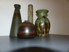 La Borne and various - Lot of 4 ceramic stoneware of France - Vases