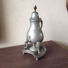 Dutch pewter tea jug with tap