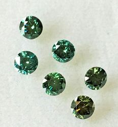 Lot of 6 Natural diamonds ct. 1.09 No reserve price.