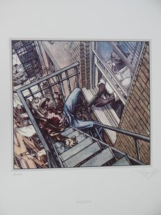 Guarnido, Juanjo - Zeefdruk Archives Internationales - Blacksad - (2001)