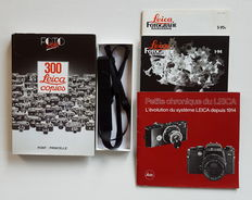 Leica literature, Leica carrying strap and Leica pins
