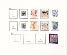 Austria 1850 / 1968 - collection with postage due stamps, ANK 3/1313 and postage due 1/256