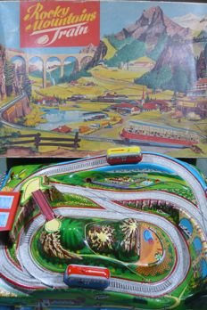 Technofix, Western Germany - Length 53 cm - Plastic/tin Rocky Mountains Train GE-312 with clockwork motor, 60s