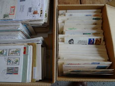 World - Covers and FDCs in boxes and albums, over 2000 pieces