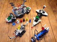 Classic Space - 6952 + 6891 + 6880 + 6881 - Solar Power Transporter + Gamma V Laser Craft + Surface Explorer + Lunar Rocket Launcher