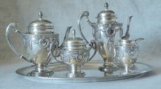 Unique, never seen Adolf Kander Silver (A800) tea and coffee service, 5 pieces