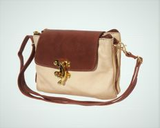 Genuine leather purse with golden details - Made in Italy - Florence, Tuscany