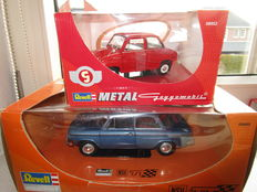 Revell - Scale 1/18 - NSU TT & Blue and Goggomobil - Red