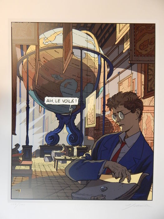 Schuiten - Grote zeefdruk Archives Internationales + certificaat - La frontière invisible  - (2002)