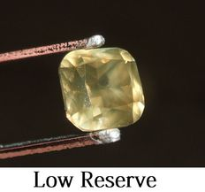 Cushion cut diamond of 3.50 ct, natural fancy Intense olive brown