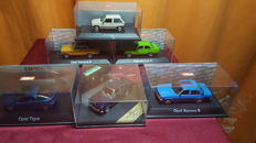Schuco / Vitesse - Scale 1/43 - Lot with 6 models: 6 x Opels