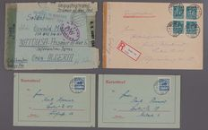 German Reich and Zones - Batch of  postal stationary, including military mail, print, post cards and propaganda