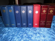 Europa CEPT 1981 to1992 – collection in block of 4 in eight albums.