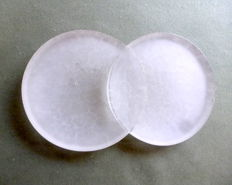 Christophe Pillet (Daum) - Twins Collection; trinket bowl in white crystal paste (signed)
