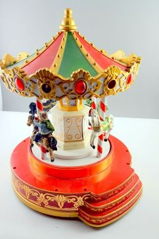 Old Music Box Fairground Carousel Music and Light