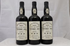 1985 Vintage Port Burmester Extra Selected – 3 bottles