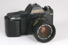 Canon T50 with Canon FD Zoom 3.5-4.5/28-55 mm