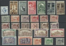 Italy, from 1863 - Selection of complete series with Air Mail.